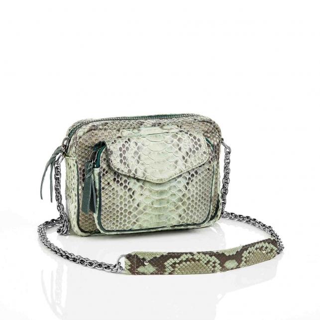 Celadon Charly Python Bag