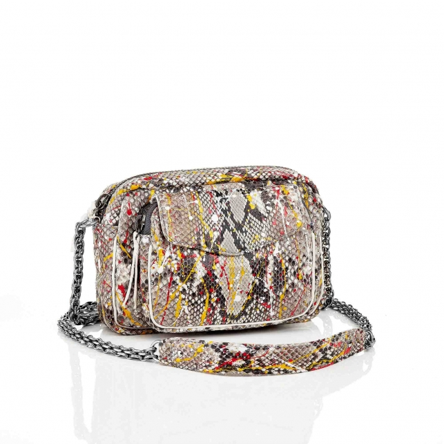 Diamond Red Spotted Charly Python Bag