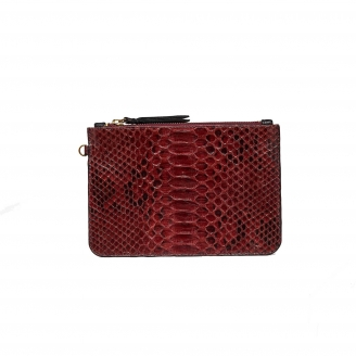 Burgundy Python Document Holder Amy S