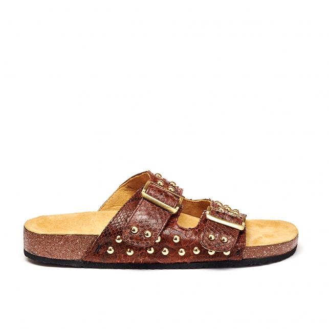 Sandals Python Odette Moka