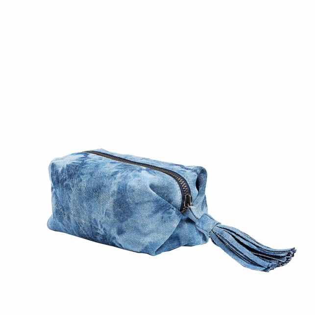 Trousse Paulette Denim Tie & Die