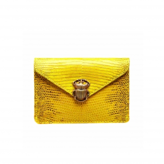 Yellow Lizard Card Holder Alex