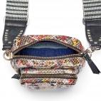 Python Diamond Red Spotted Mini Charly Bag