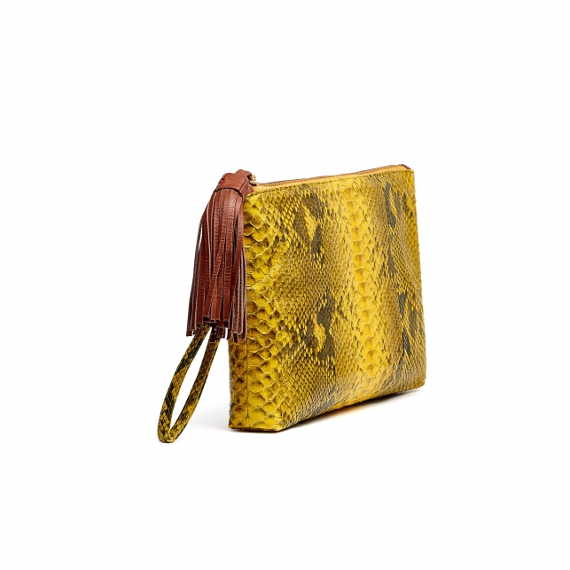 Yellow Python Clutch Andy