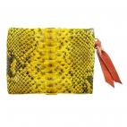 Coin Holder Olivia Python Yellow