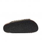 Sandals Python Odette Khaki Gold Studs