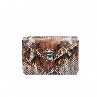 Stone Grey Python Card Holder Alex