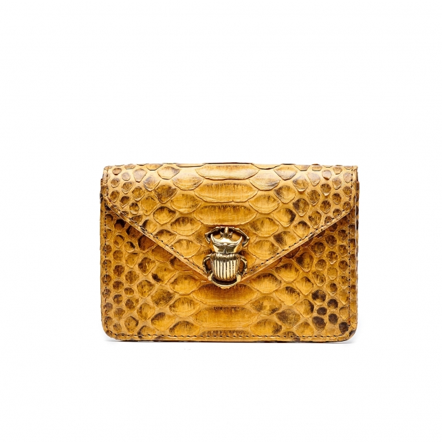 Honey Python Card Holder Alex