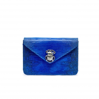 Majorelle Blue Lizard Card Holder Alex