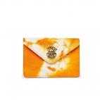 Orange T&D Lamb Skin Card Holder Alex
