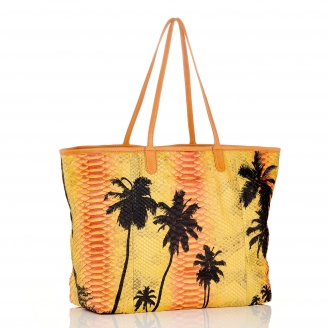 Palm Yellow Python Tote Marny