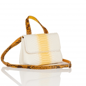 Cream Python Shoulder Bag Baby Mimi