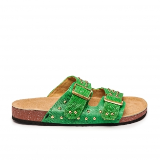 Apple Green Lizard Odette Sandals