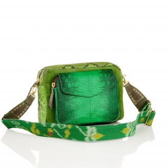 Apple Lizard Bag Jumbo Charly With Shoulder Strap