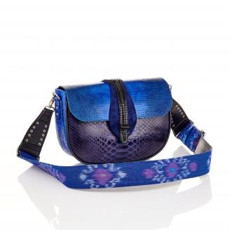 Blue Mix Lizard Bag Andrea