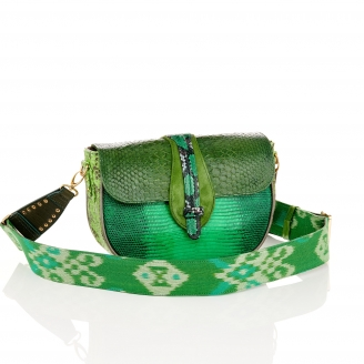 Green Mix Lizard Bag Andrea