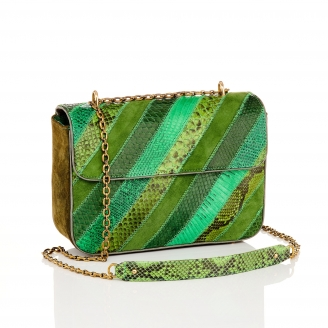 Green Patchwork Python Bag Big Ava