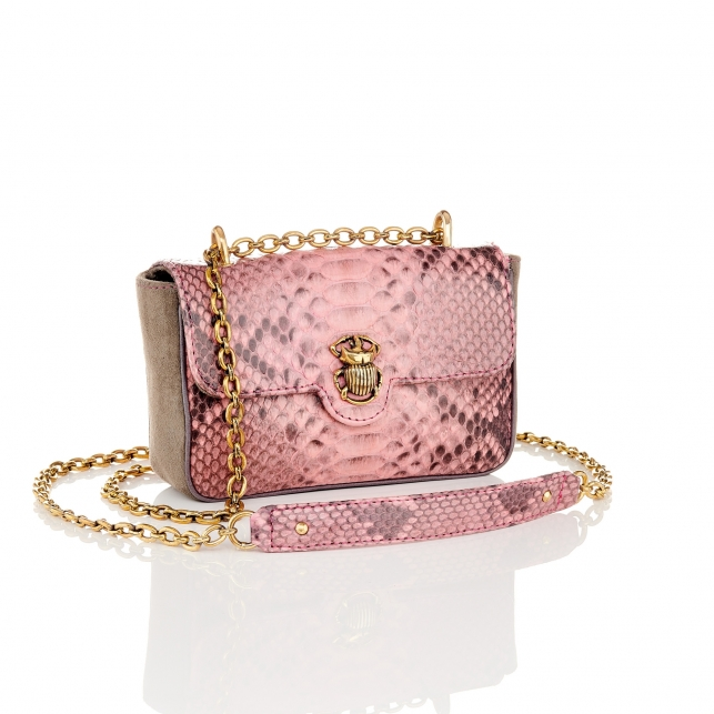 Python Bag Ava Pink Powder