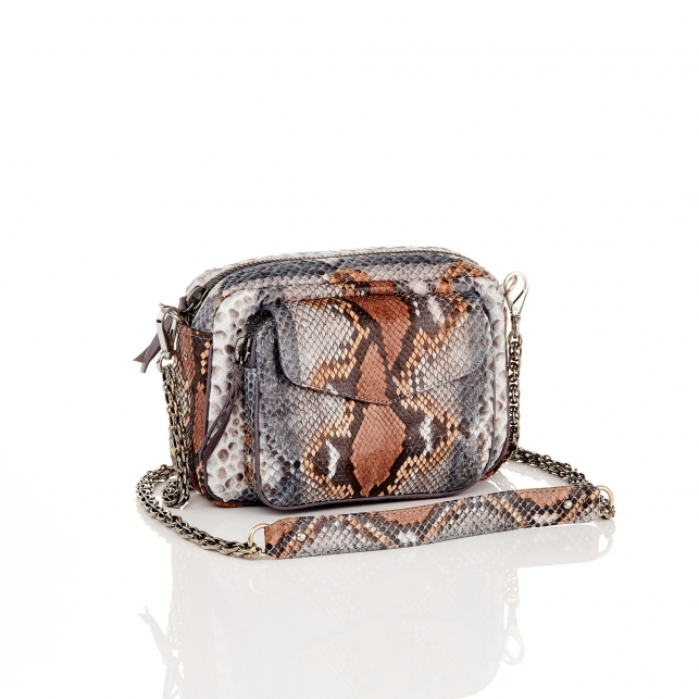 Stone Grey Python Bag Charly