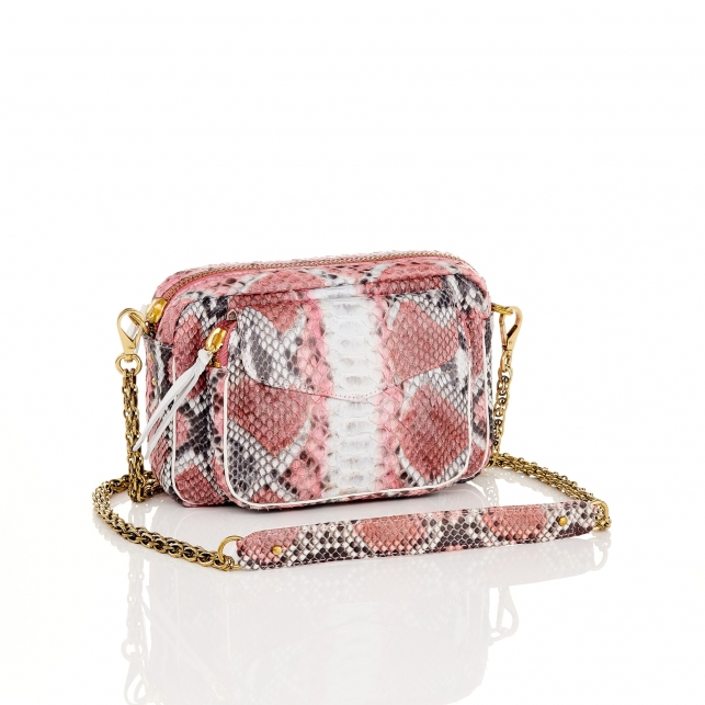 Bubble Gum Python Bag Charly
