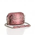 Pink Powder Python Bag Charly with studs