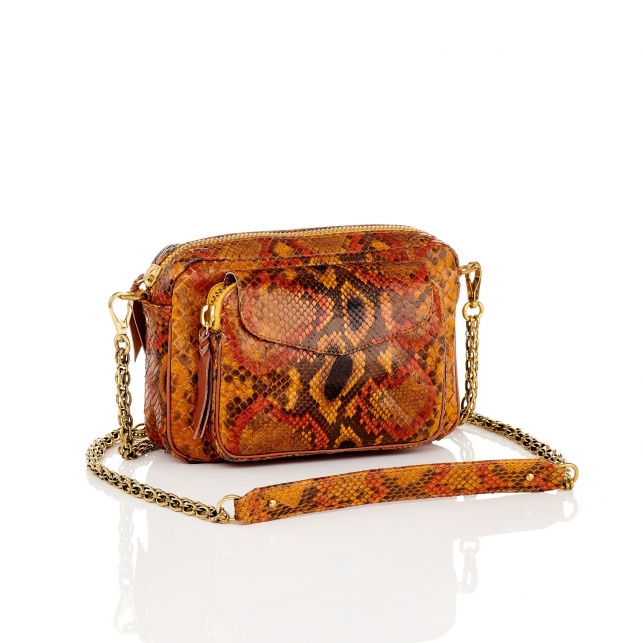 Painted Moka Python Bag Charly