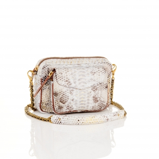 Python Gold Foil Charly Bag