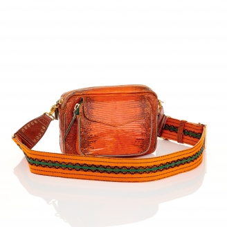 Sac Lézard Charly Orange Bandoulière