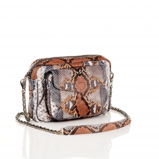 Stone Grey Python Bag Big Charly Chain