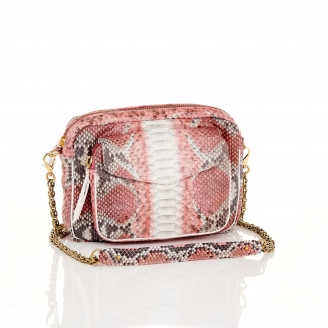 Bubble Gum Python Bag Big Charly Chain