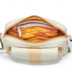 Cream Python Bag Big Charly Chain