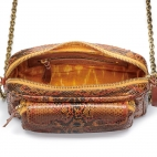 Moka Painted Python Bag Big Charly Chain
