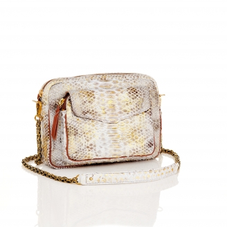 Bag Python Big Charly Gold Foil With Chain
