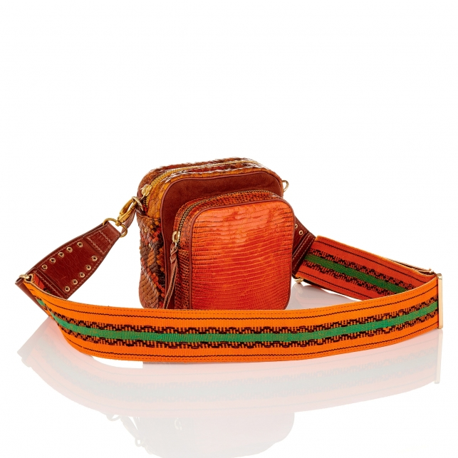 Orange Lizard Orange Mini Charly Bag