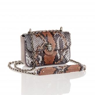 Stone Grey Python Mini Ava Bag