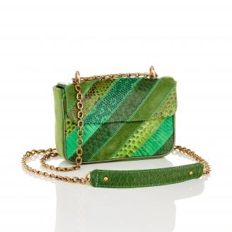 Green Patchwork Python Bag Ava