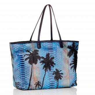 Palm Blue Python Tote XL Marny