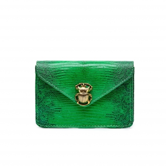 Lizard Card Holder Alex Apple Green