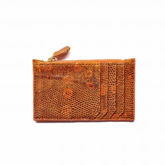 Orange Lizard Card Holder Big Helena