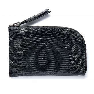 Black Lizard Mini Bob Wallet