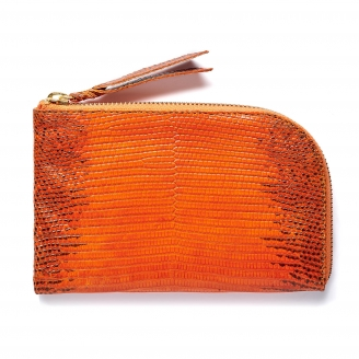Orange Lizard Mini Bob Wallet