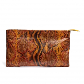 Python Clutch Big Lou Moka Painted