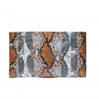 Python Clutch Lou Stone Grey