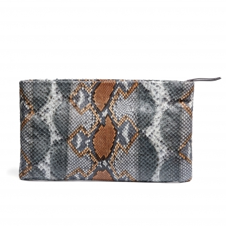 Python Clutch Big Lou Stone Grey