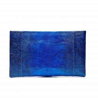 Blue Majorelle Lizard Clutch Lou