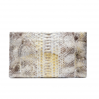 Pochette Python Lou Diamond Foil
