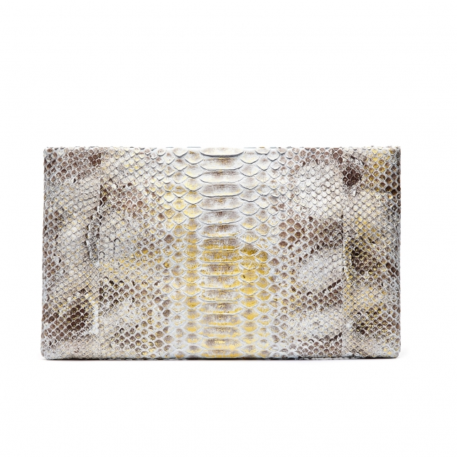 Python Clutch Lou Diamond Foil