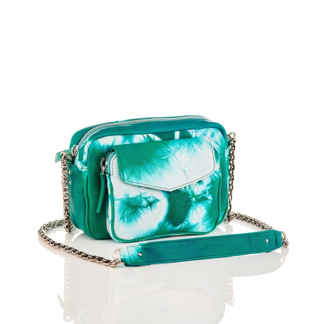 Green T&D Lamb Leather Charly Bag