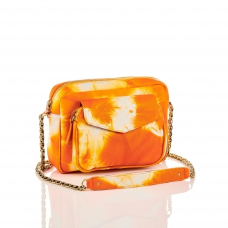 Sac Cuir d'Agneau Big Charly T&D Orange Chaîne
