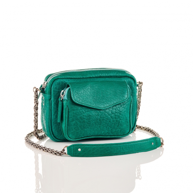 Green Lamb Leather Charly Bag